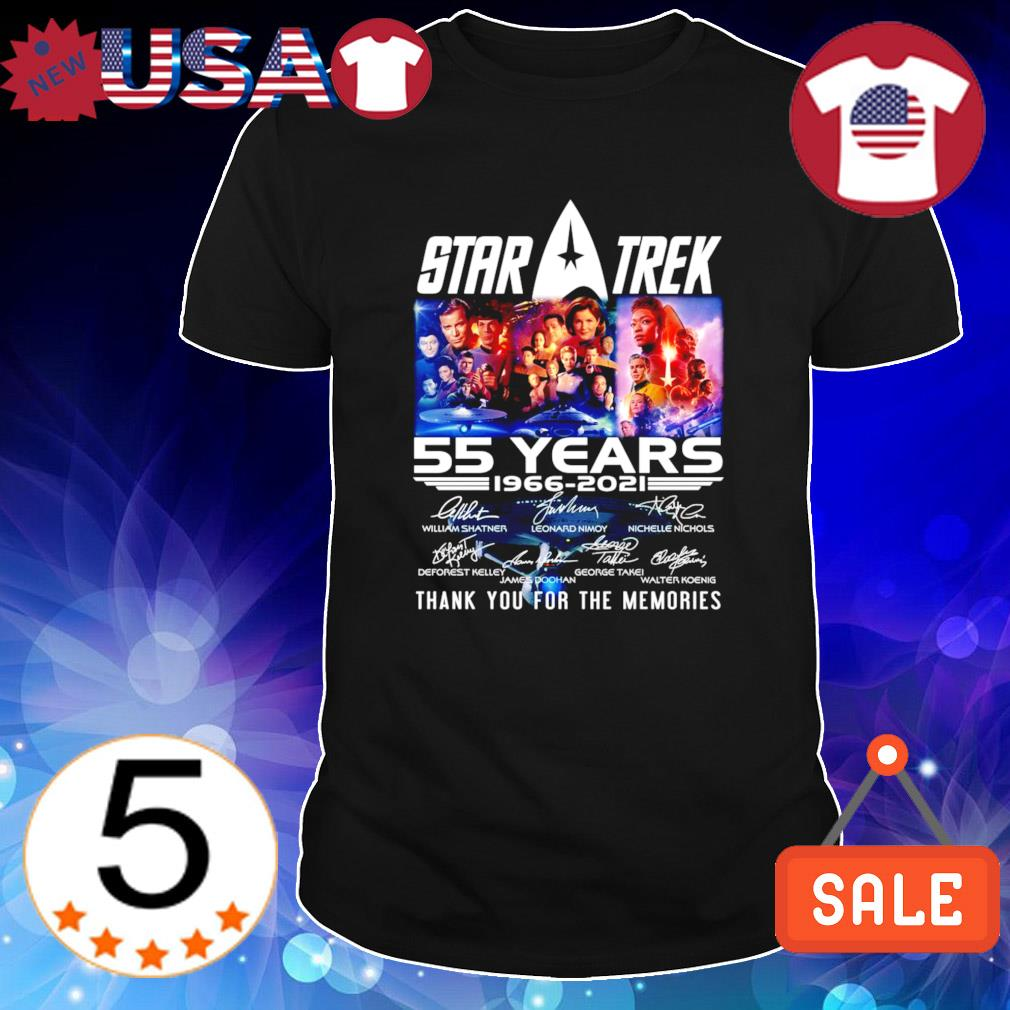 55 years of Star Trek 1966 2021 thanks for the memories shirt