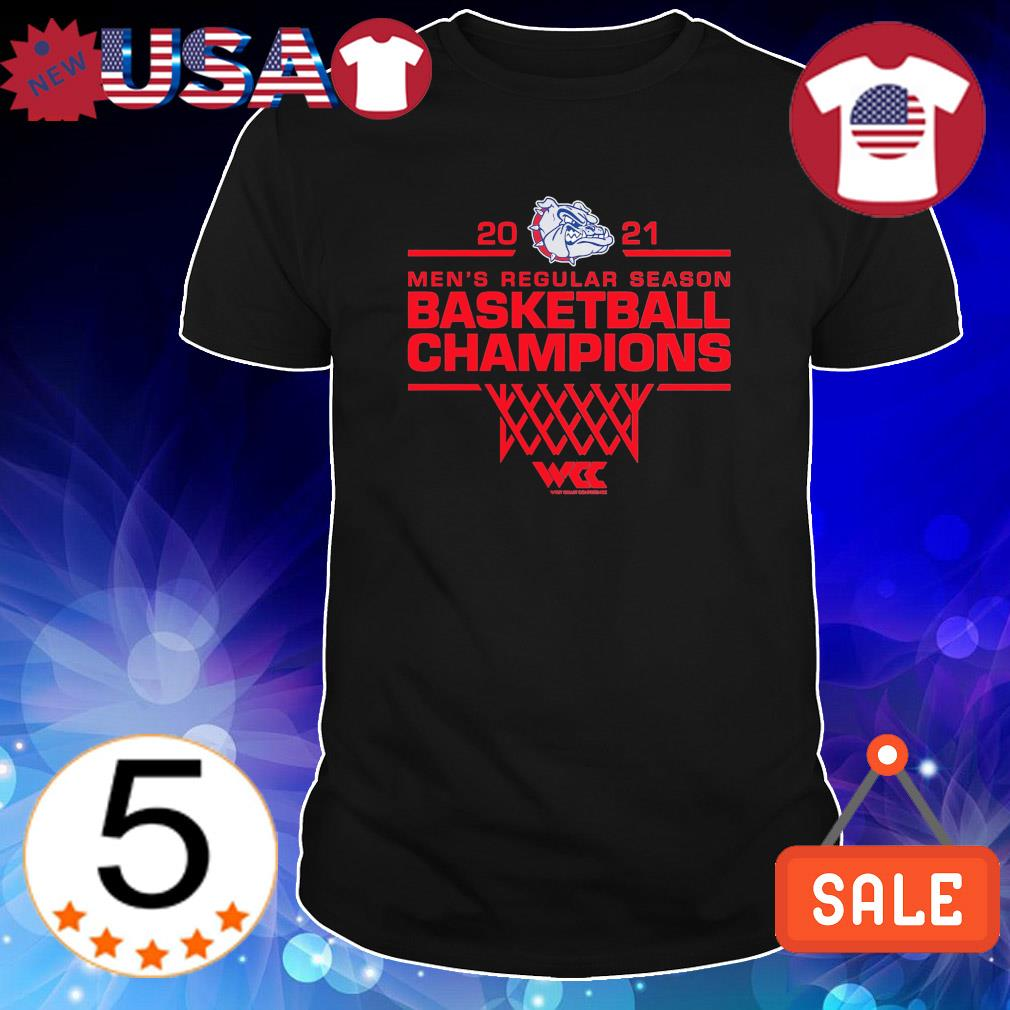 2021 Men's regular season basketball champions Gonzaga Bulldogs shirt