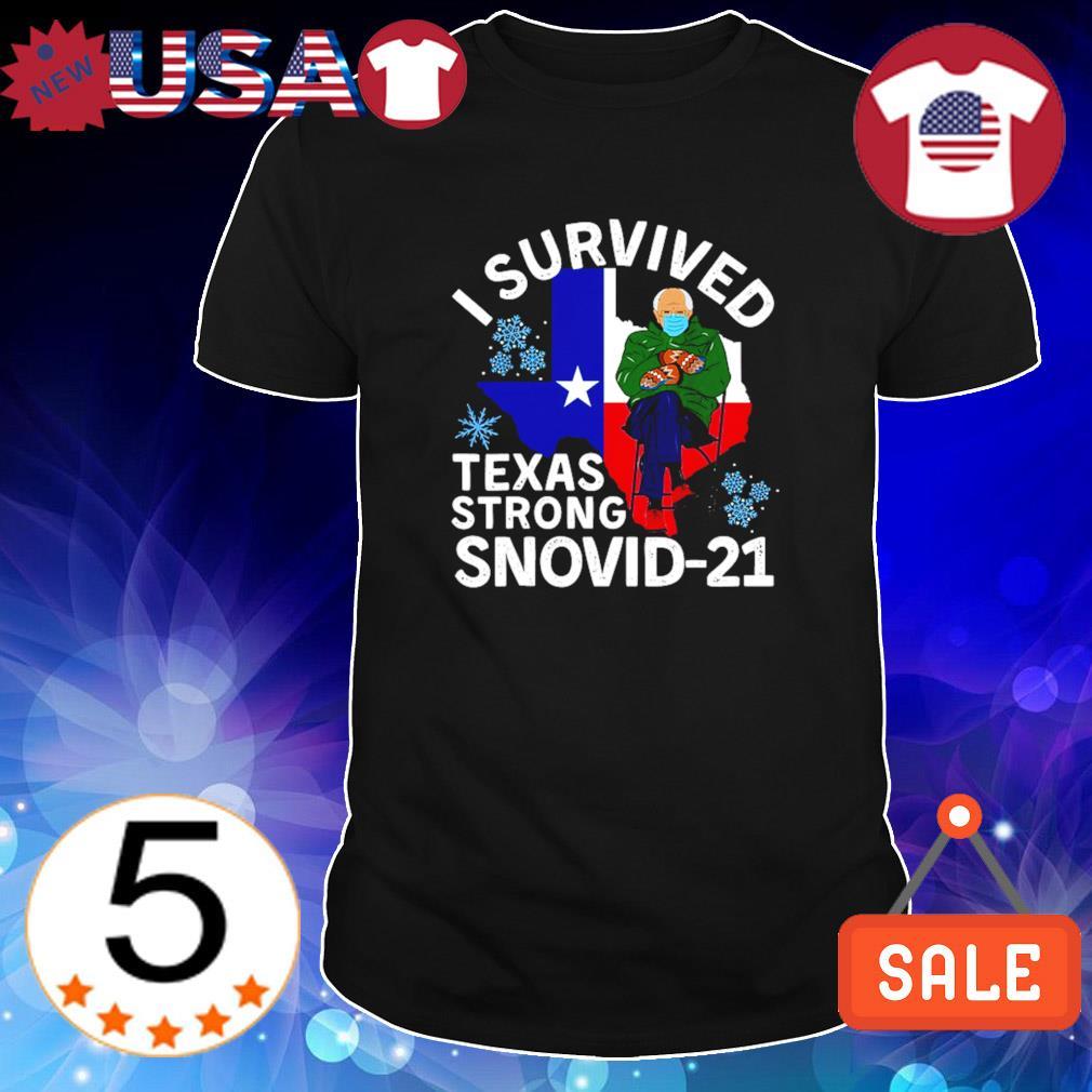 Bernie Sander I survived Texas strong Snovid-21 shirt