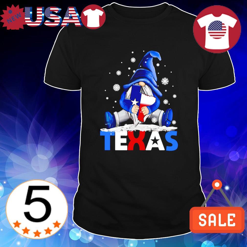 Gnome hug Texas strong Snowstorm and Covid-19 shirt