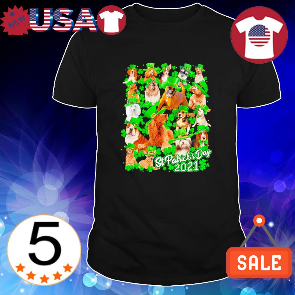 Irish Dogs Happy St.Patrick's Day 2021 shirt