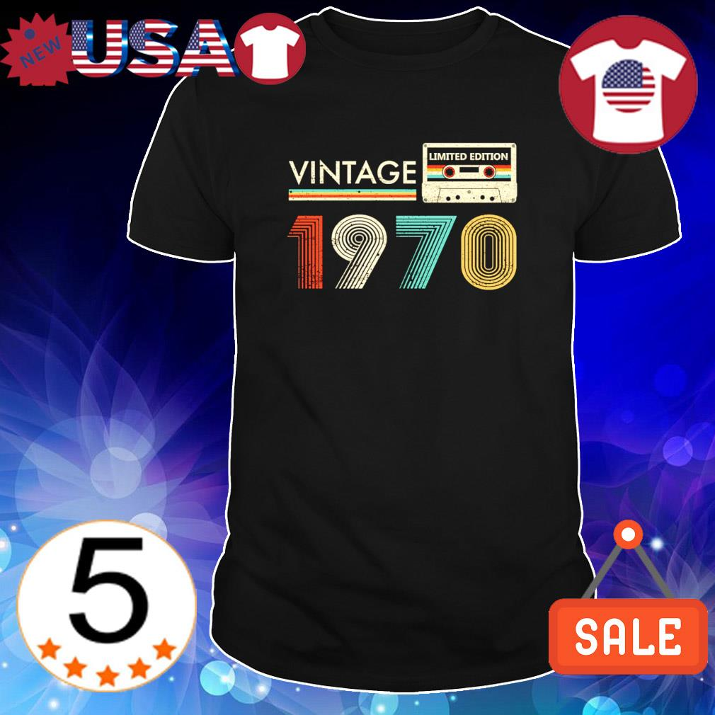 Limited edition Cassette vintage 1970 shirt