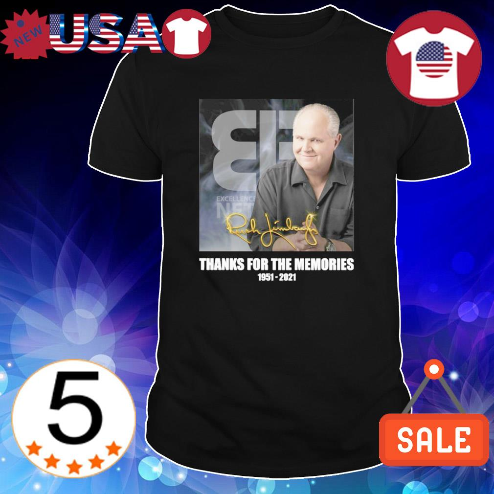 Rush Limbaugh thanks for the memories 1951 2021 signature shirt
