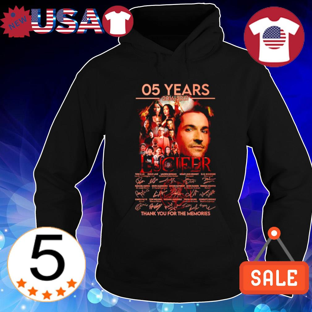 05 years of Lucifer 2016 2021 thank you for the memories s Hoodie Black