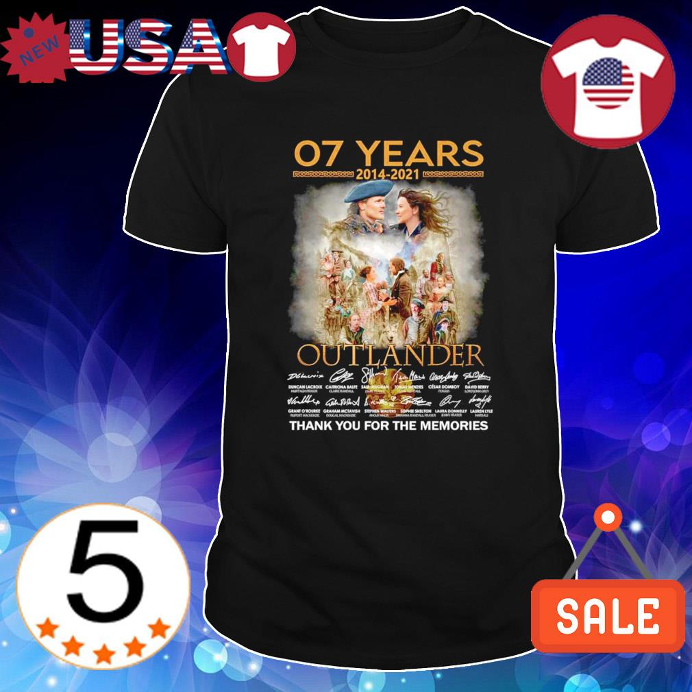 07 years 2014 2021 Outlander thank you for the memories shirt