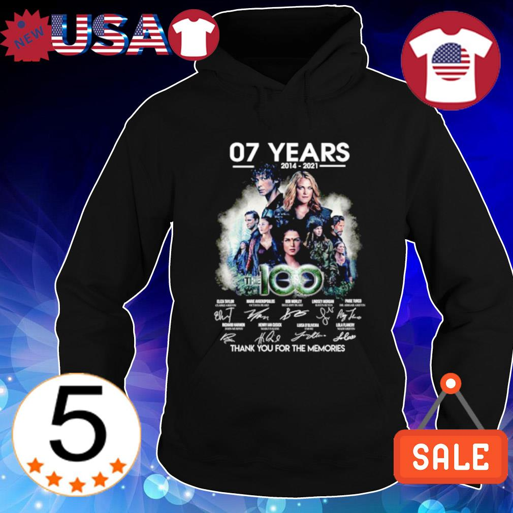 07 years of The 100 thank you for the memories s Hoodie Black
