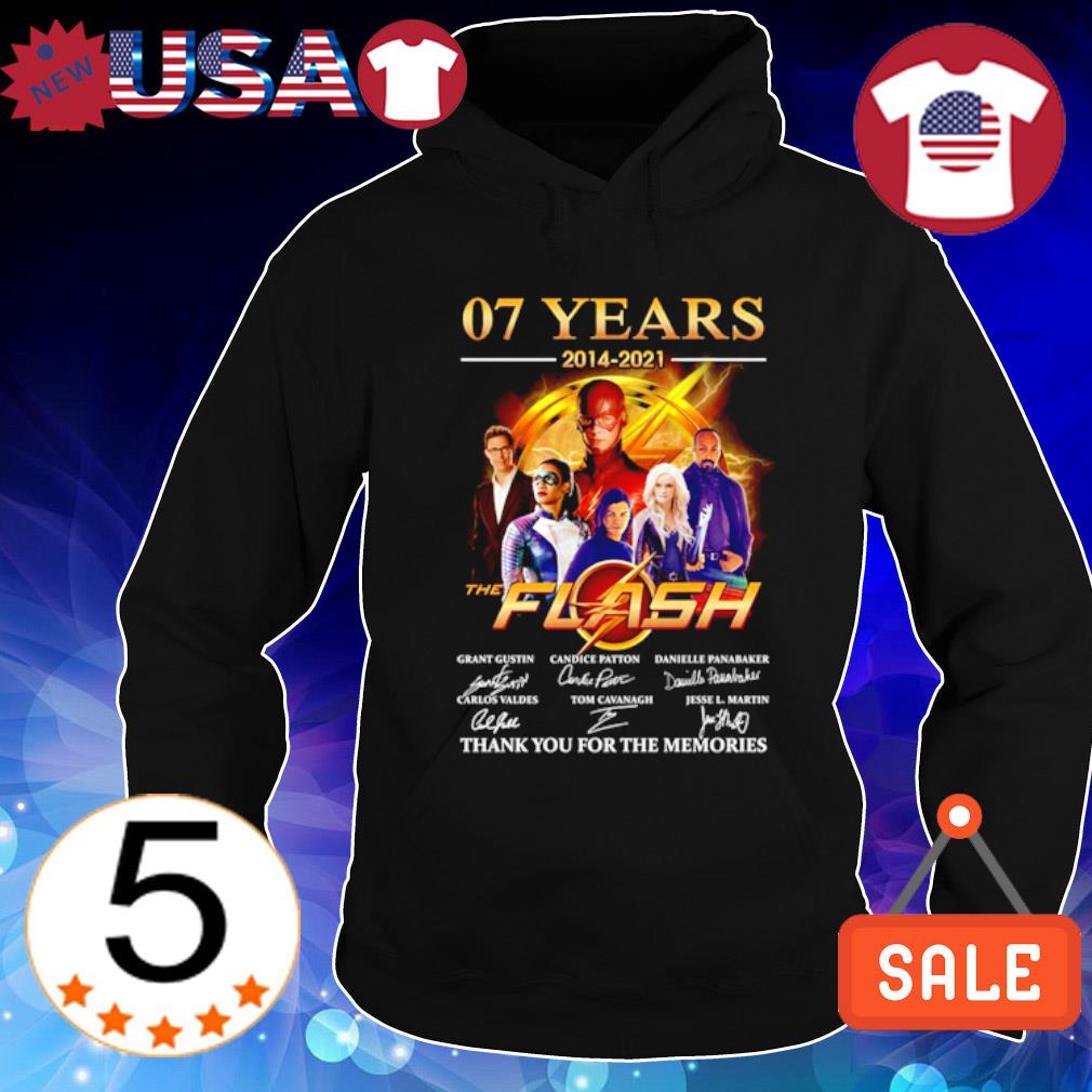 07 years of The Flash 2014 2021 thank you for the memories s Hoodie Black