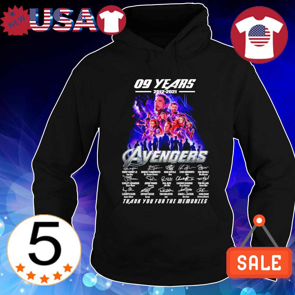 09 years of Avengers 2012 2021 thank you for the memories s Hoodie Black