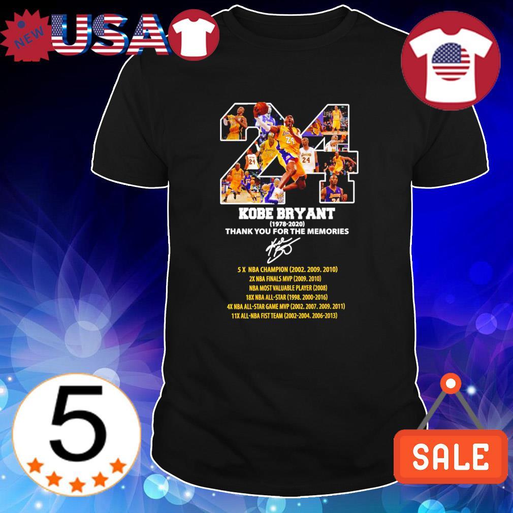 24 Kobe Bryant 1978 2020 thank you for the memories shirt