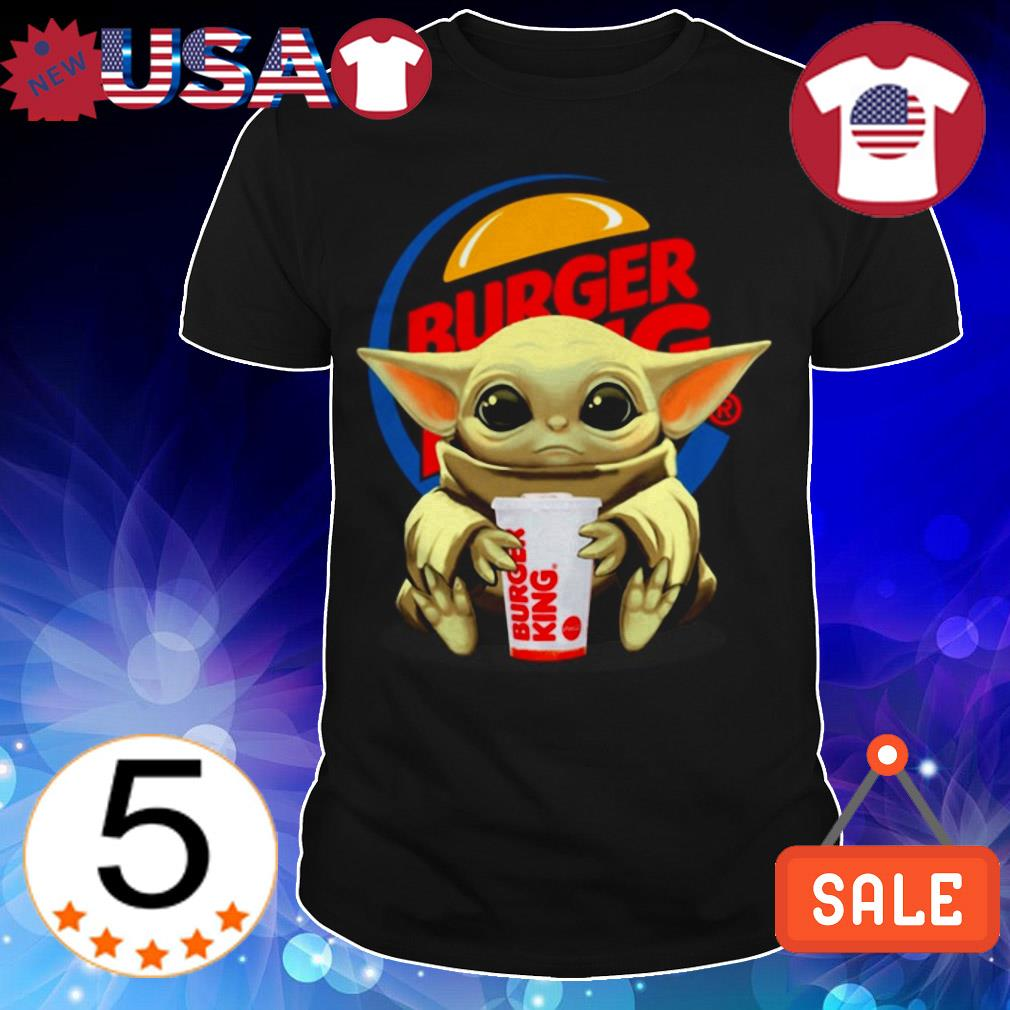 Star Wars Baby Yoda hug Burger King shirt