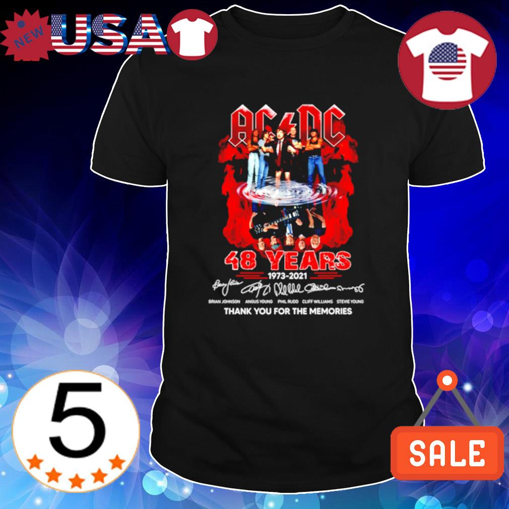 ACDC 48 years 1973 2021 thank you for the memories shirt