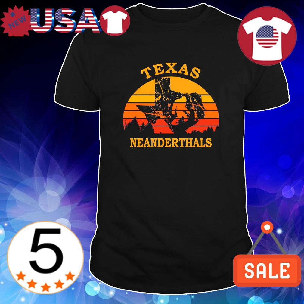 Bigfoot Texas neanderthals vintage shirt