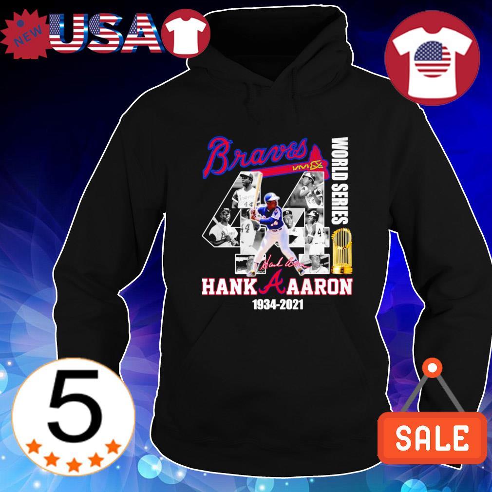 Braves Hank Aaron world series 1934 2021 s Hoodie Black