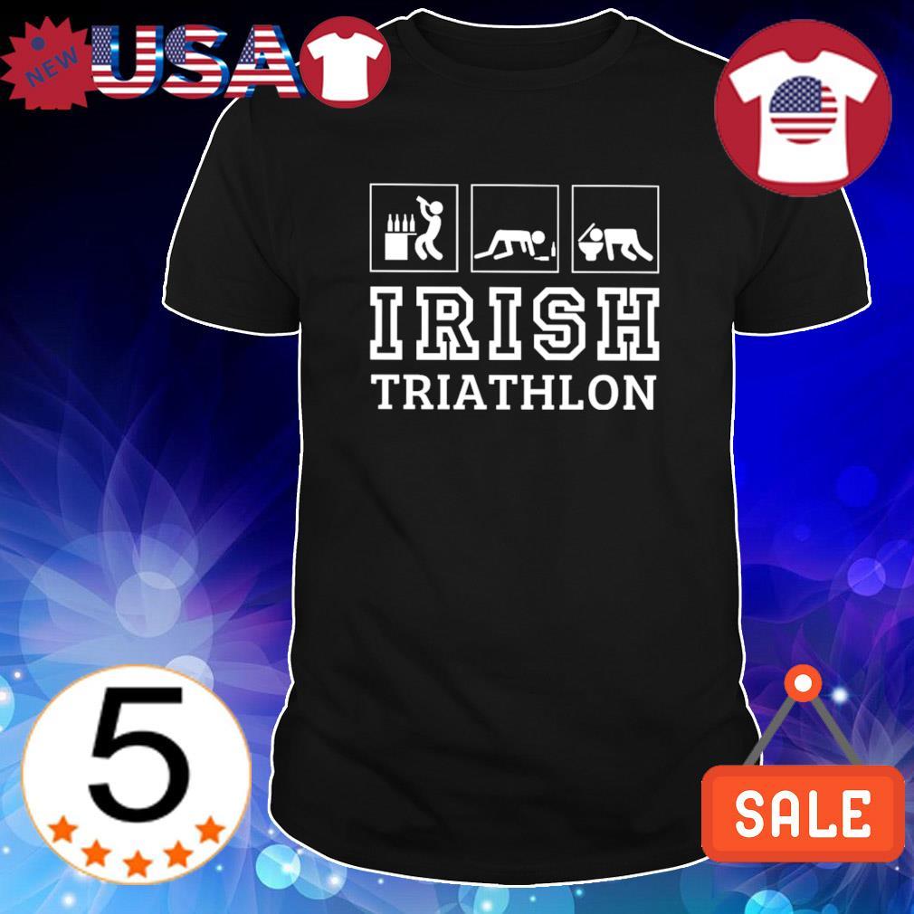Drunk Irish triathlon shirt