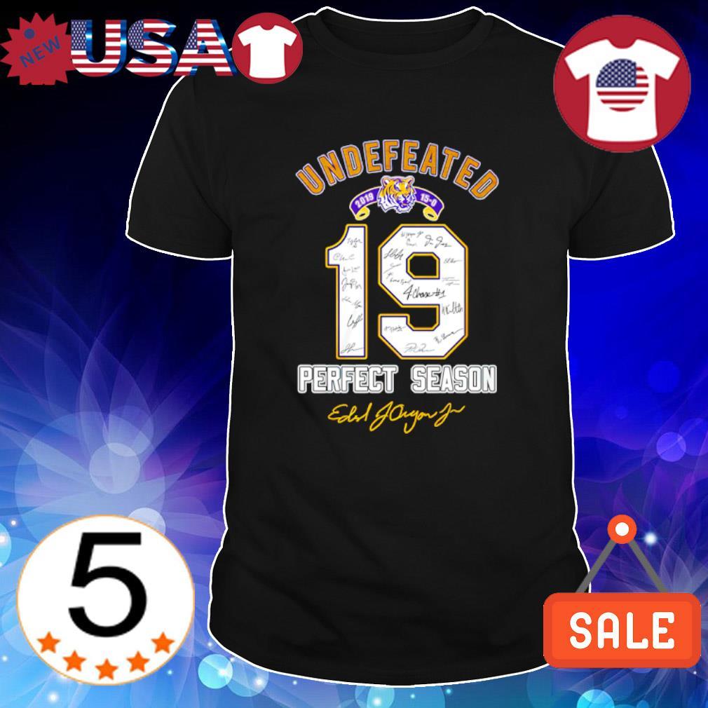 LSU Tigers 2019 undefeated perfect season shirt