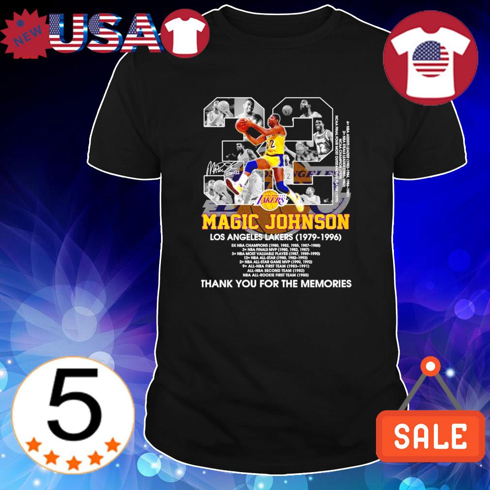 Lakers Magic Johnson 1979 1996 thank you for the memories shirt
