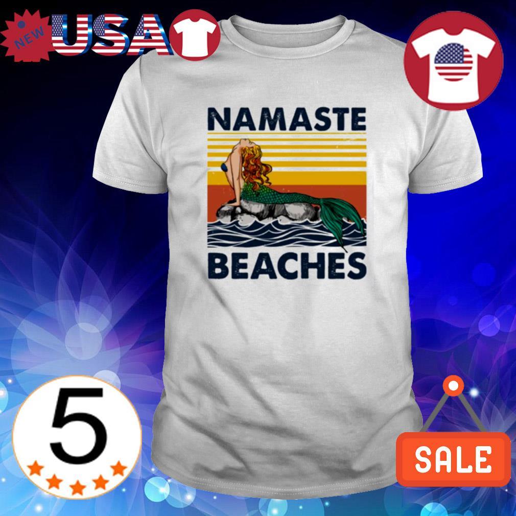 Mermaid namaste beaches vintage shirt