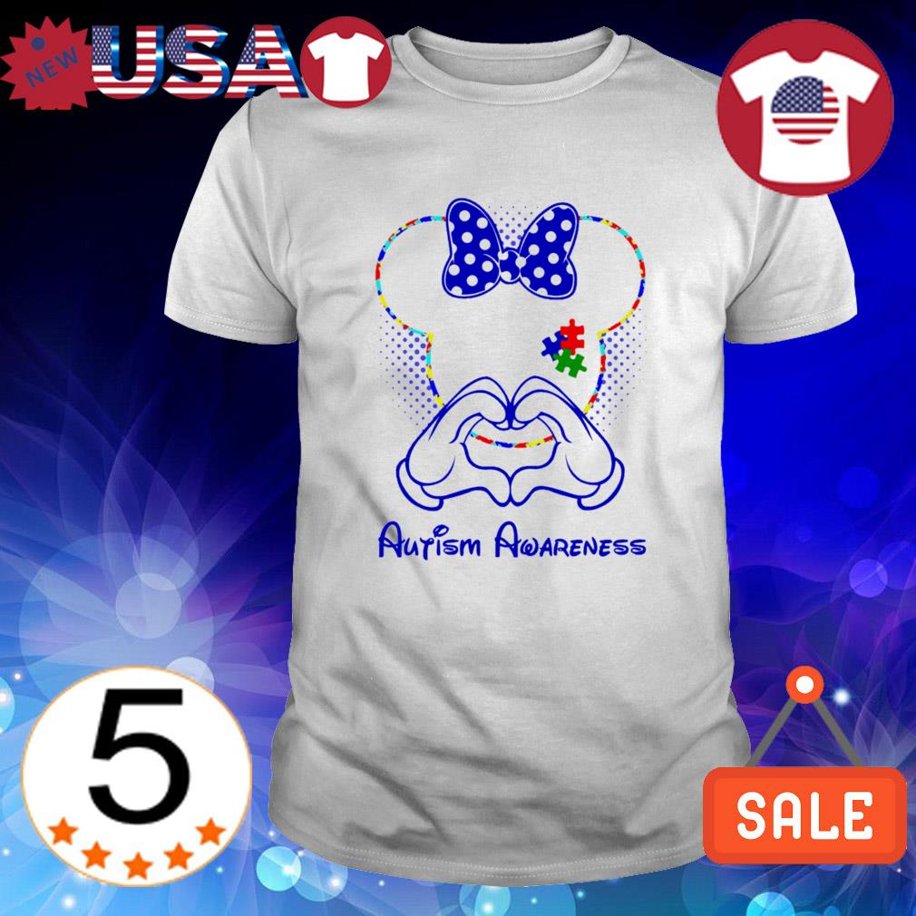 Minnie mouse love Autism Awareness shirt
