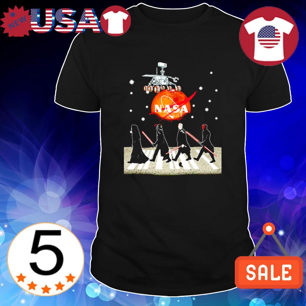 Nasa Sars Star Wars mashup Abbey Road shirt