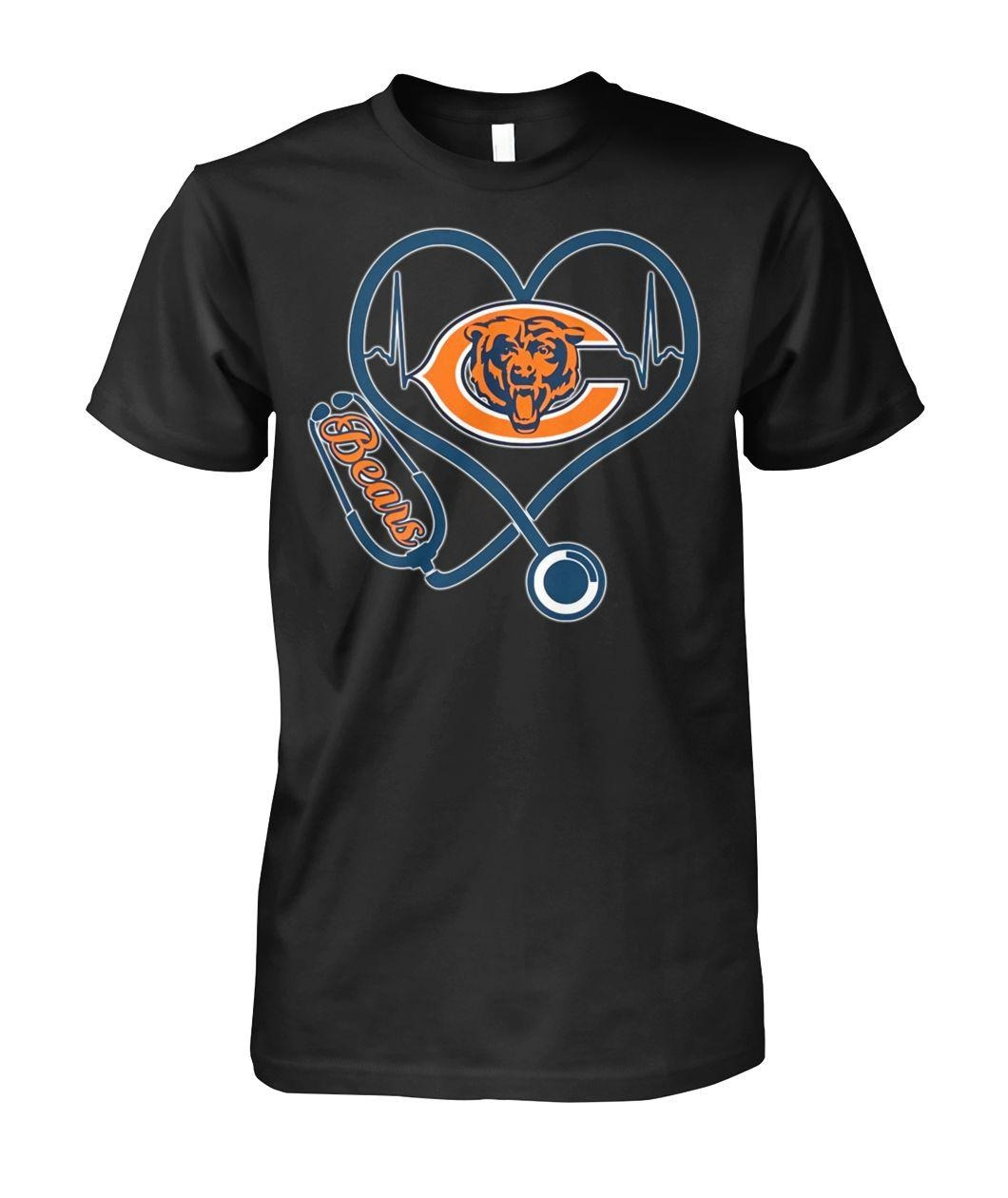 Nurse heartbeat Chicago Bears shirt