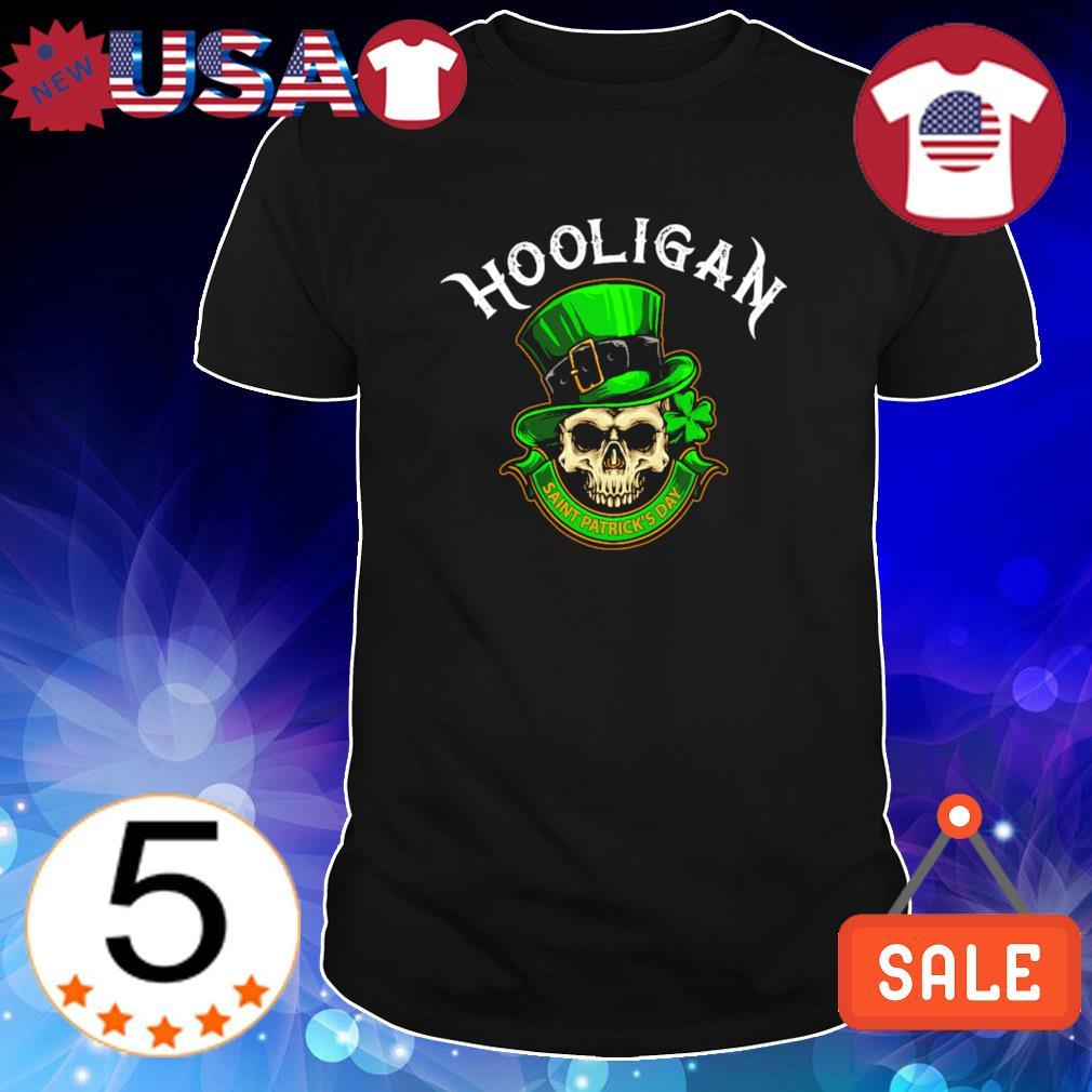 Skull hooligan Saint Patrick's Day shirt