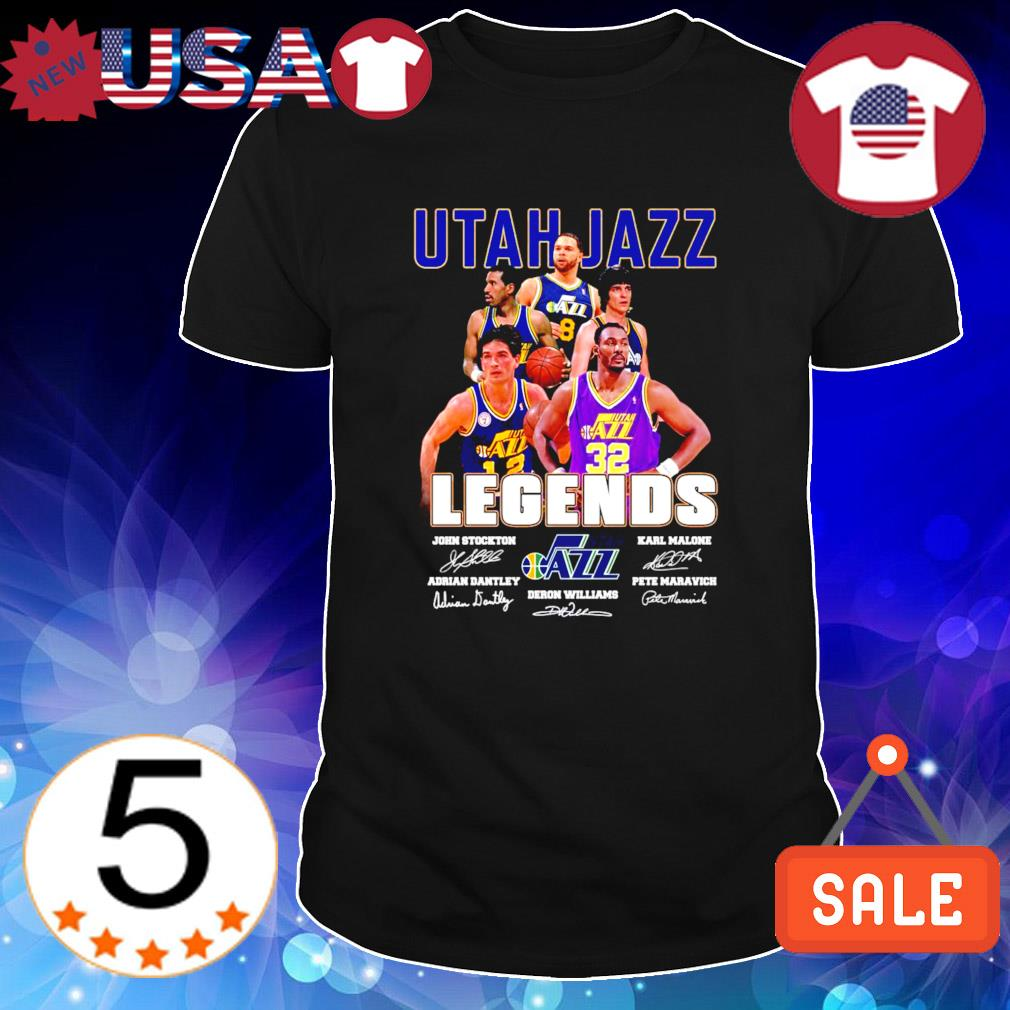 Utah Jazz legends best players signature shirt