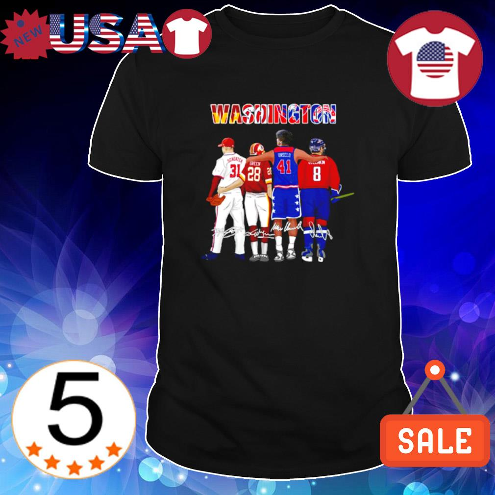 Washington best players Scherzer Green Unseld shirt
