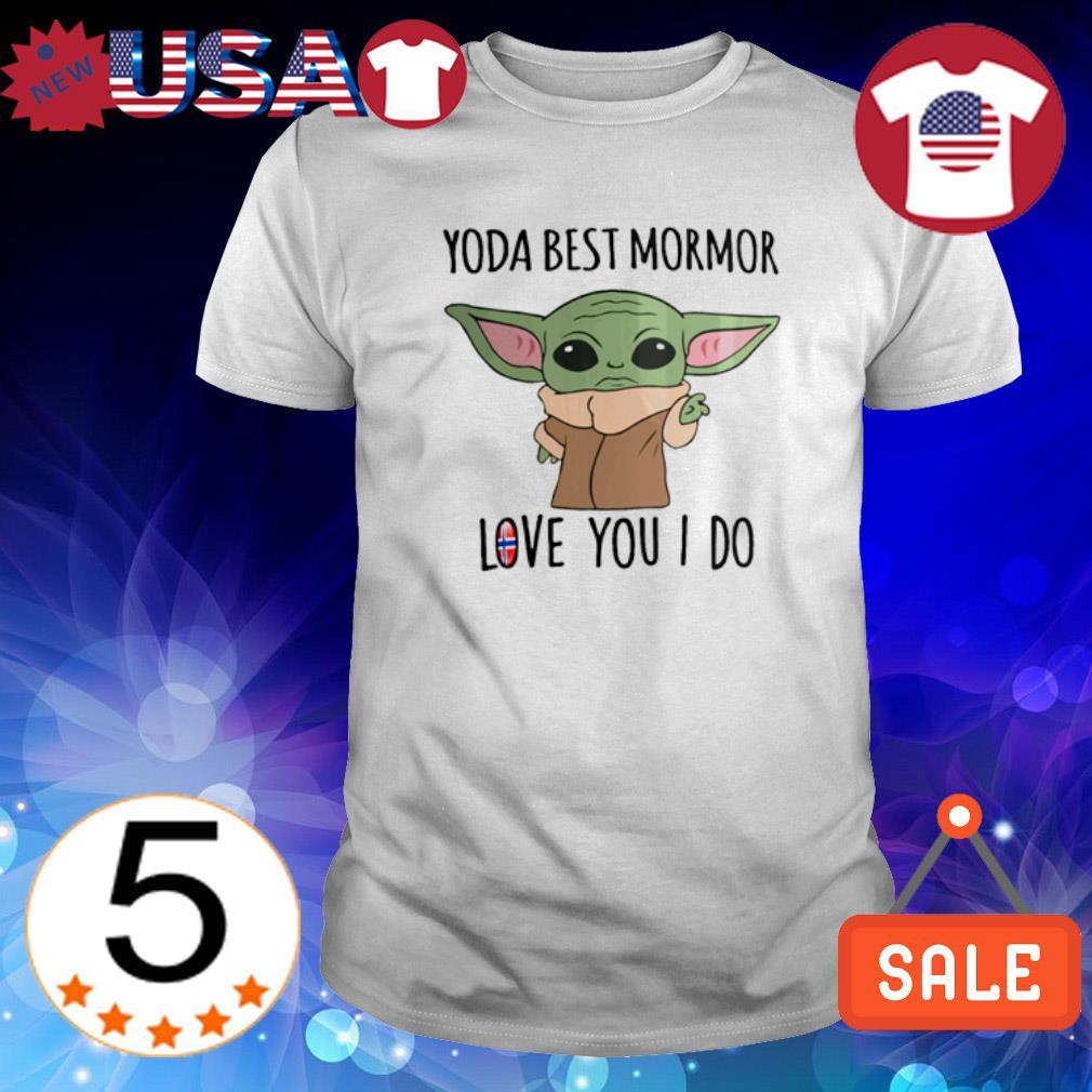 Yoda best mormor love you I do Norway Flag shirt
