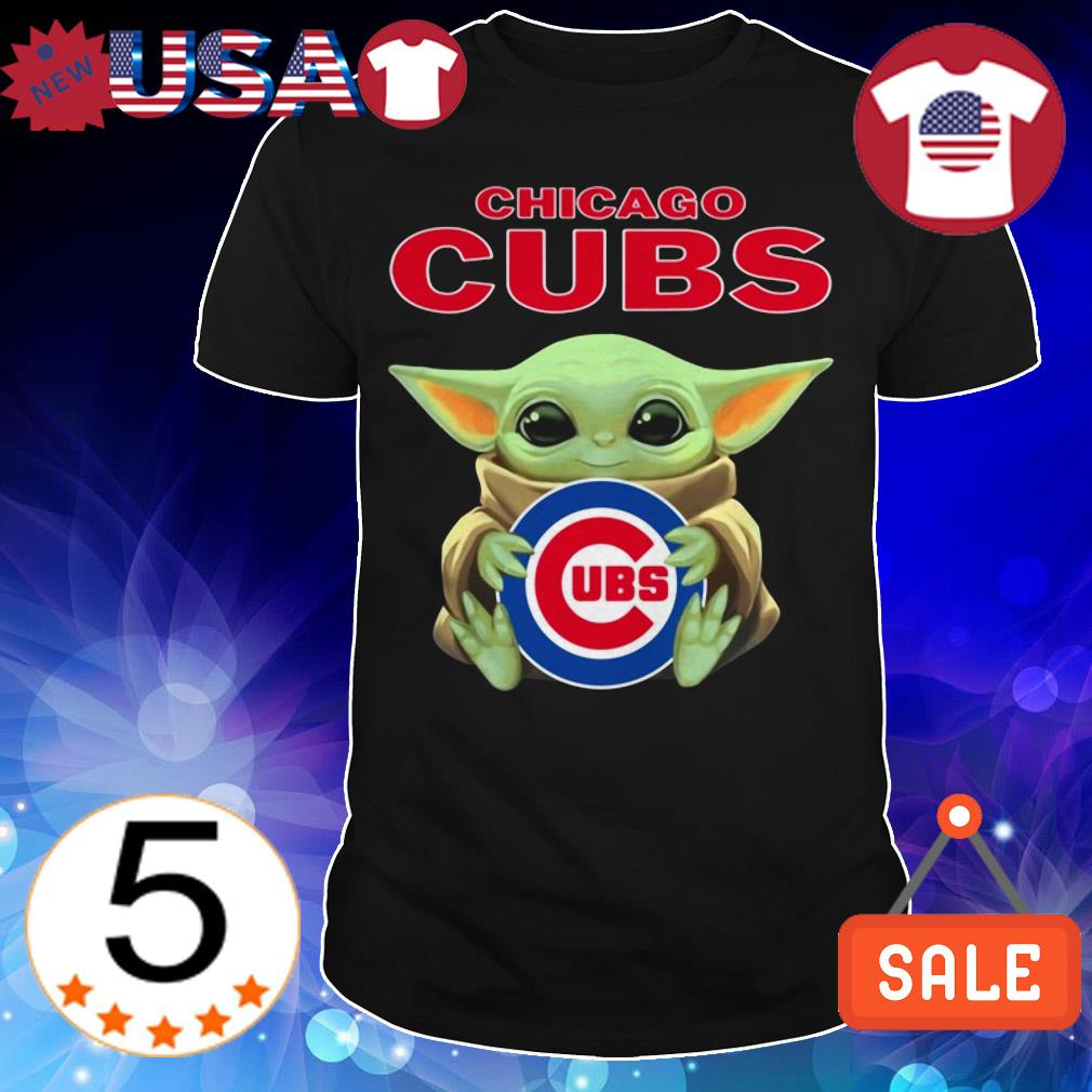 Star Wars Baby Yoda hug Chicago Cubs shirt