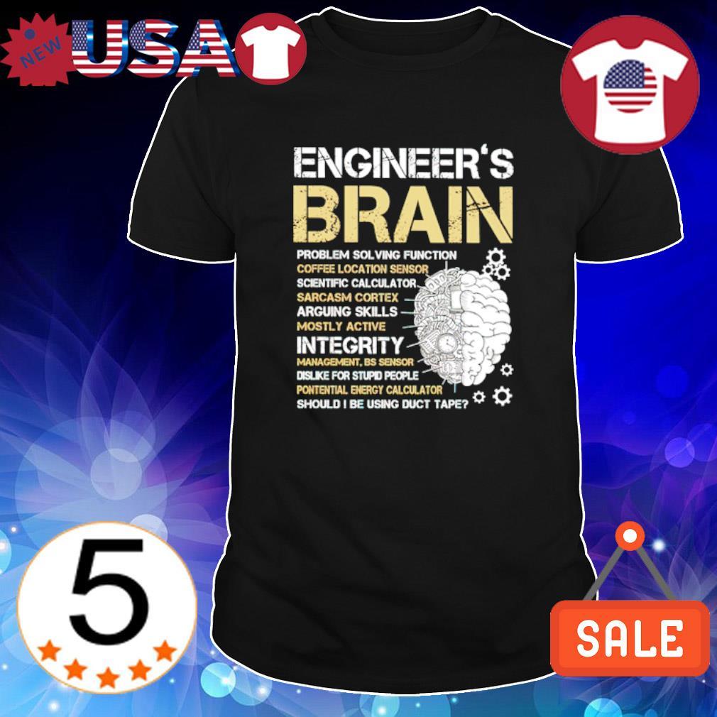 Engineer's brain problem solving function shirt