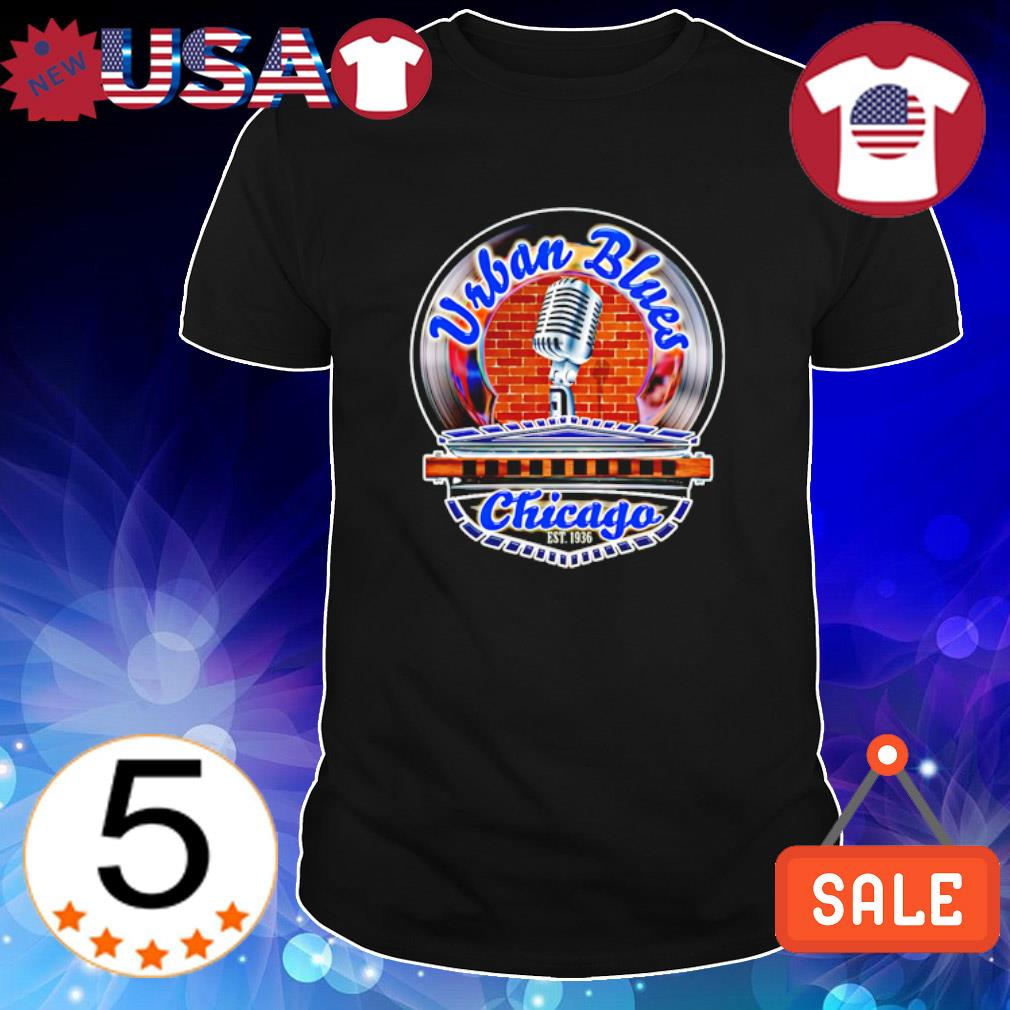 Harmonica Urban Blues Chicago est 1936 shirt