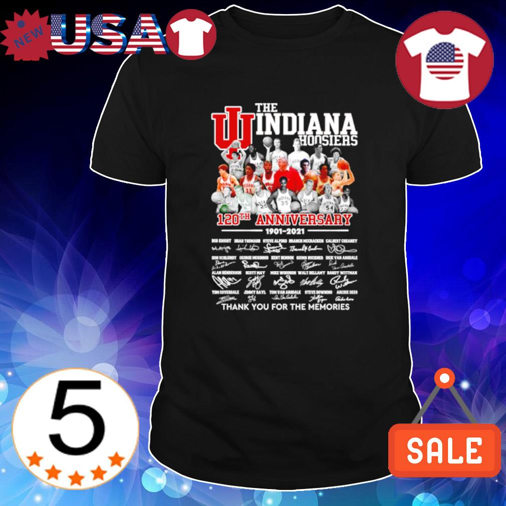 The Indiana Hoosiers 120th Anniversary 1901 2021 thank you for the memories shirt