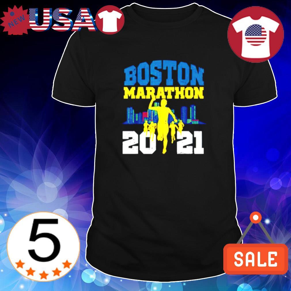 Boston 2021 marathon runner 26.2 miles shirt