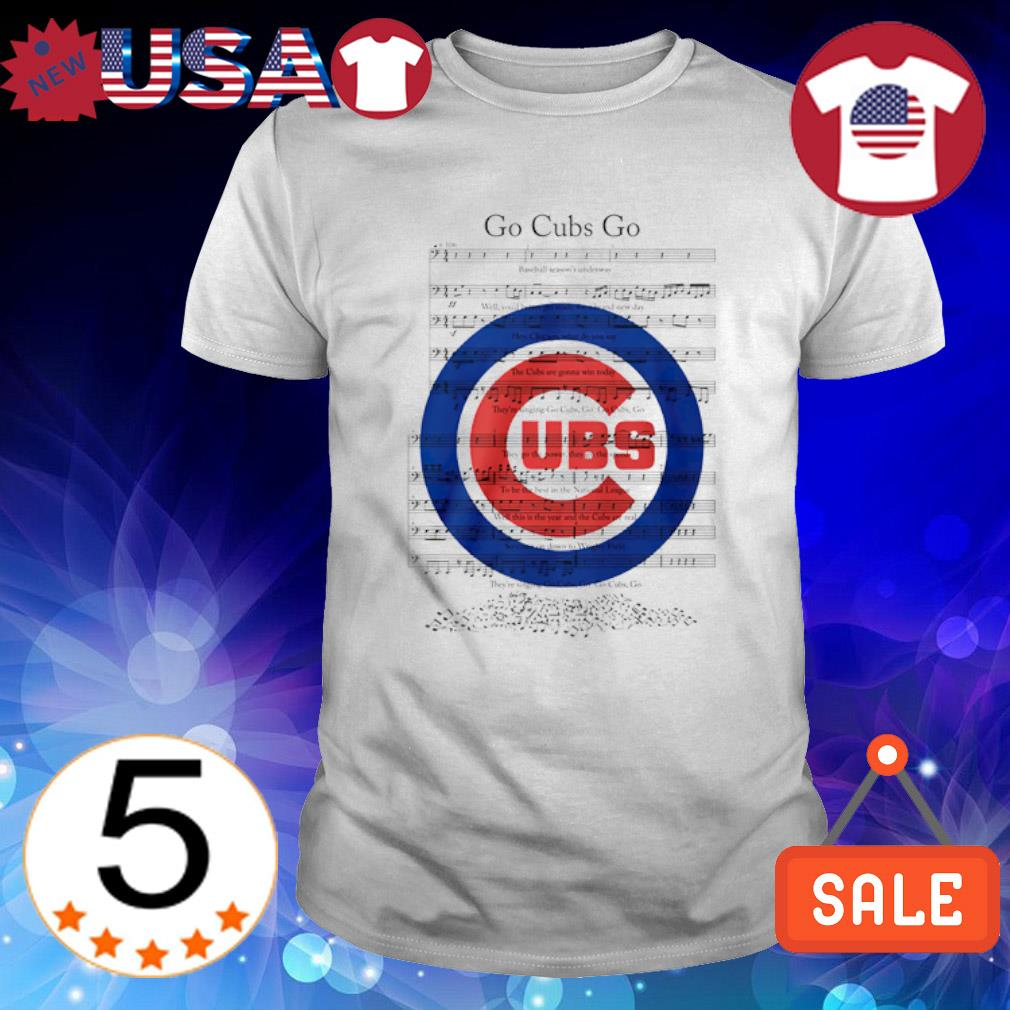 Go Cubs go music note shirt