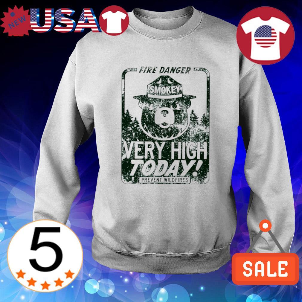 Smokey fire danger very high today Sweater White