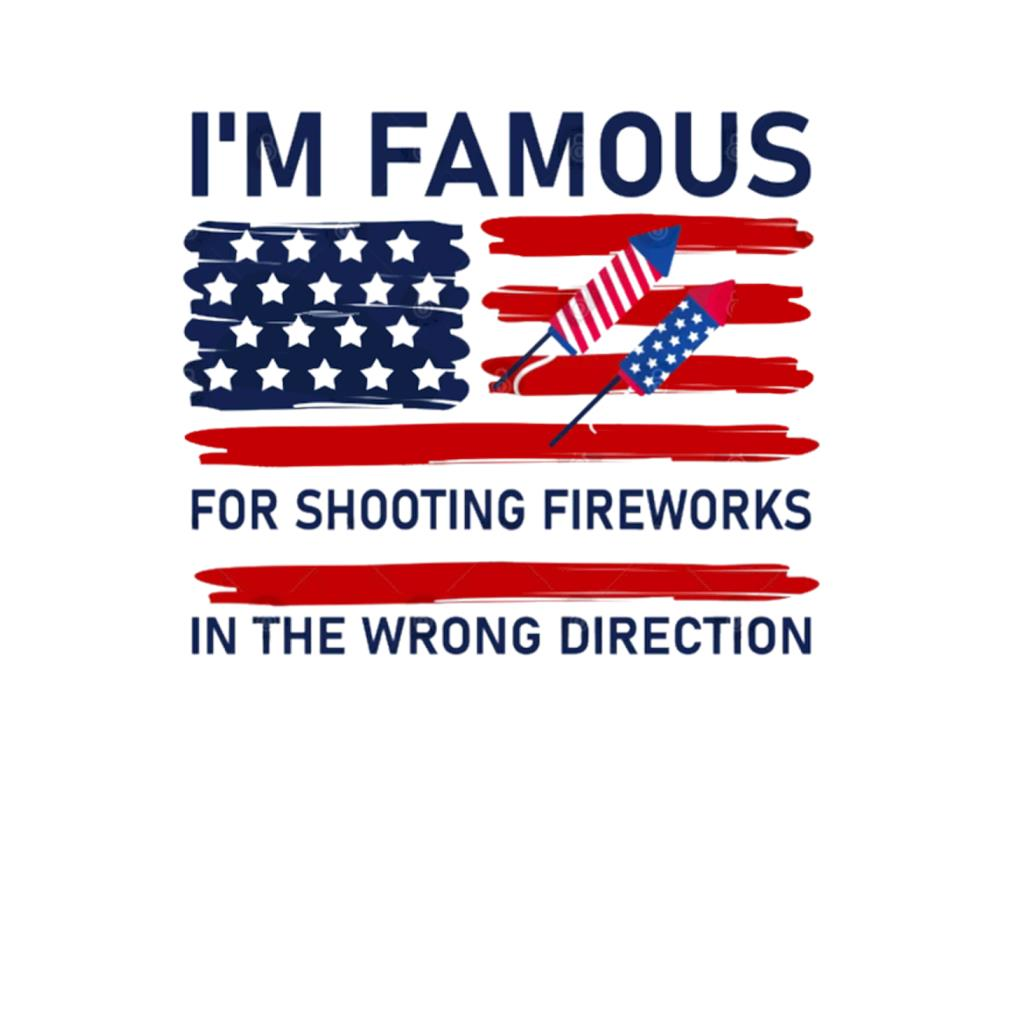 I'm famous for shooting fireworks in the wrong direction t-shirt