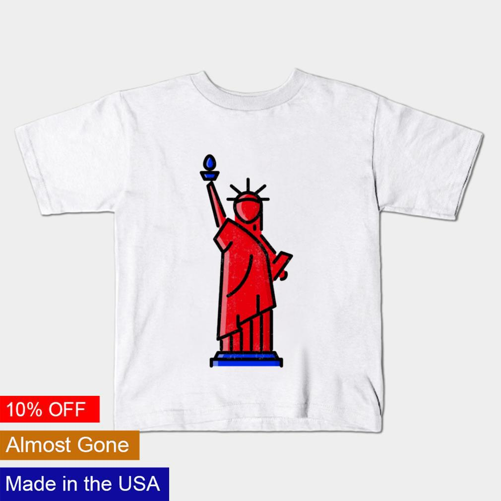 Statue of Liberty 4th of July cartoon shirt