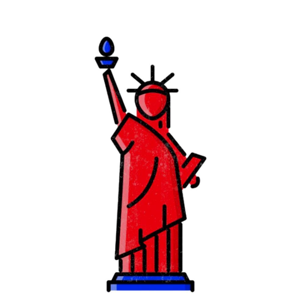 Statue of Liberty 4th of July cartoon t-shirt