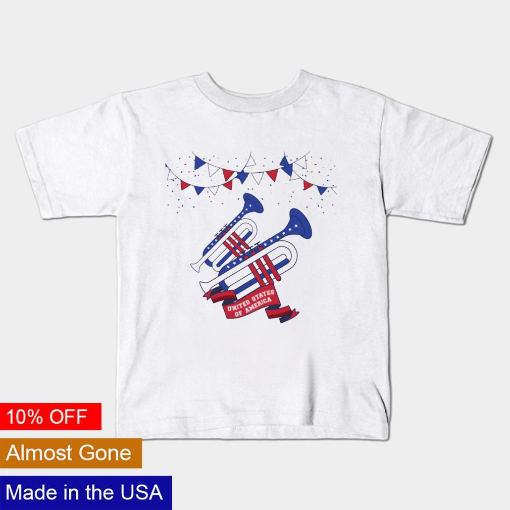 Trumpet United States of America 4th of july shirt