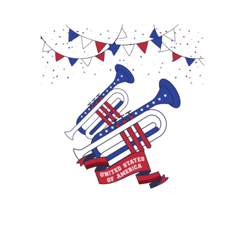 Trumpet United States of America 4th of july t-shirt