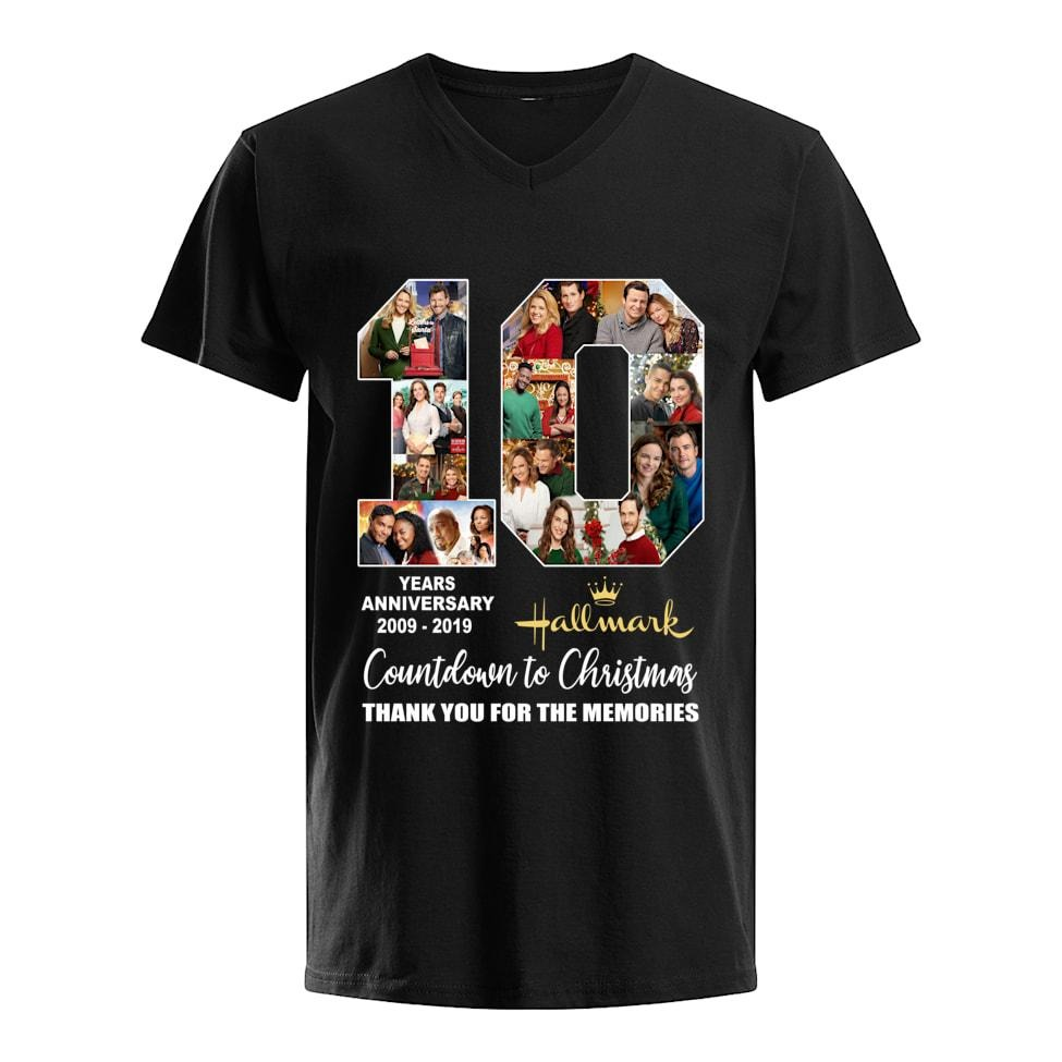 10 Years Anniversary 2009-2019 of Hallmark Countdown to Christmas shirt