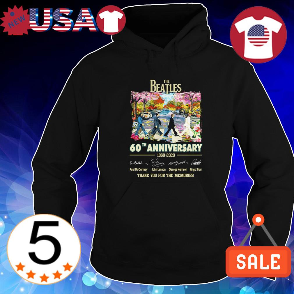 Official The Beatles 60th anniversary 1960-2020 signature shirt