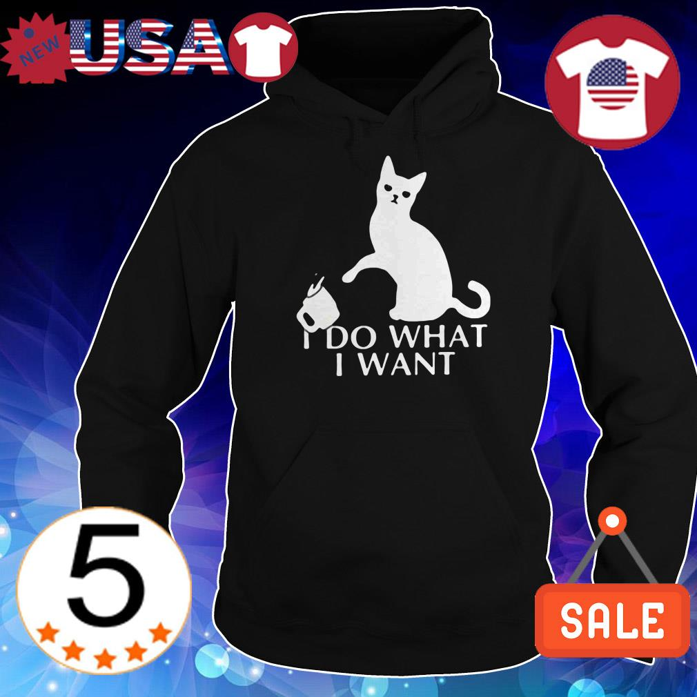 I do what I want black cat shirt