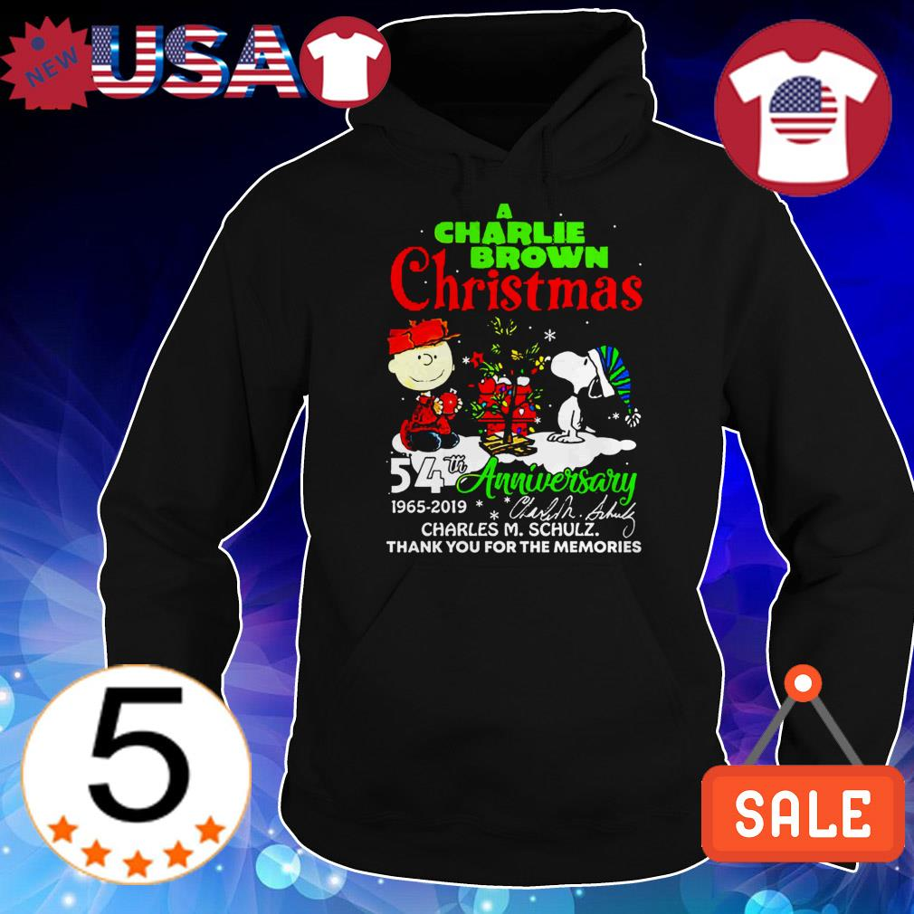 A Charlie Brown Chrismas 54th anniversary 1965-2019 thank you for the memories Christmas sweater