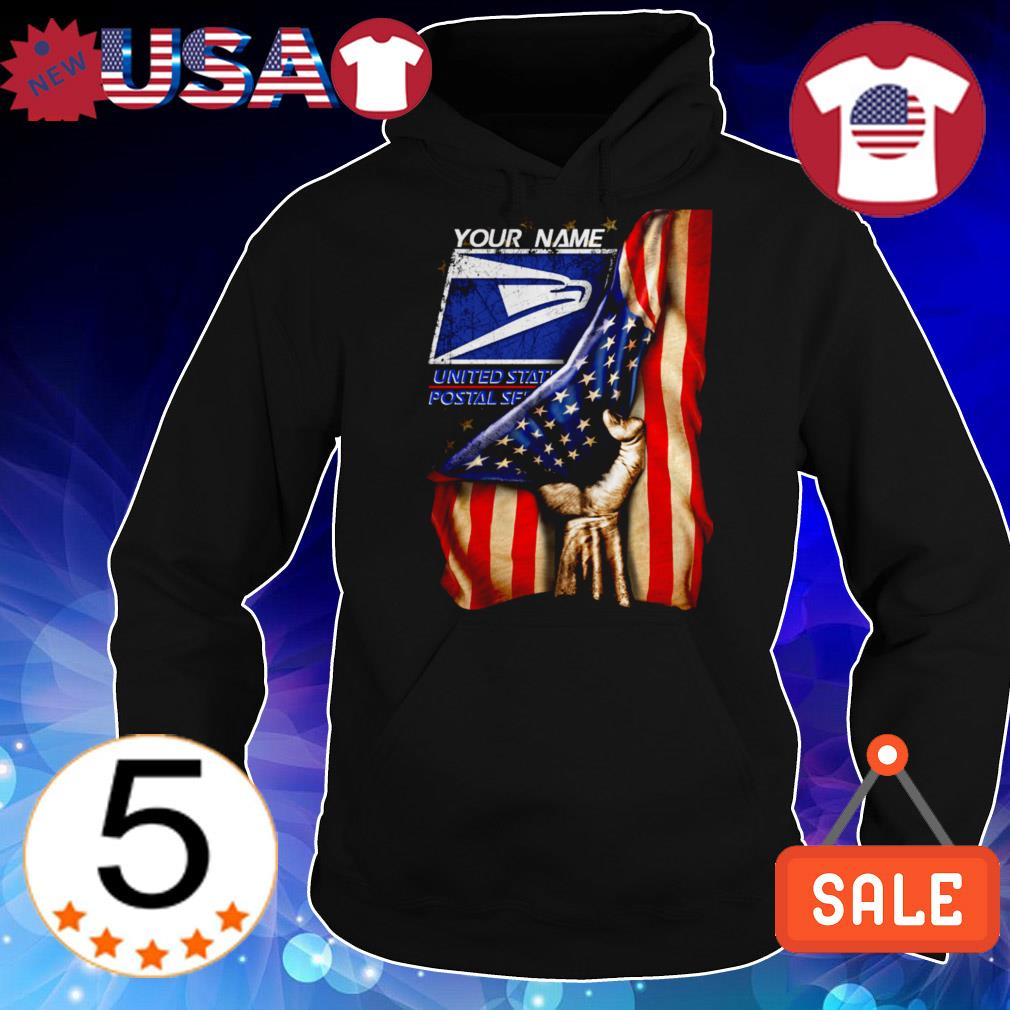 4th of July independence day your name United States Postal Service shirt