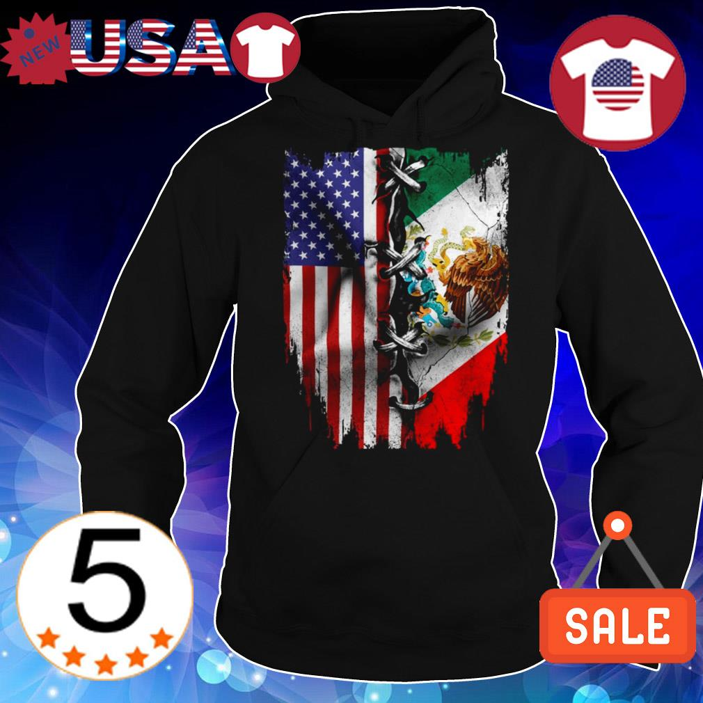 4th Of July independence day Mexico United States shirt