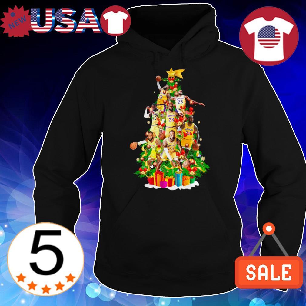 LeBron James Lakers 23 Chrismas tree sweater