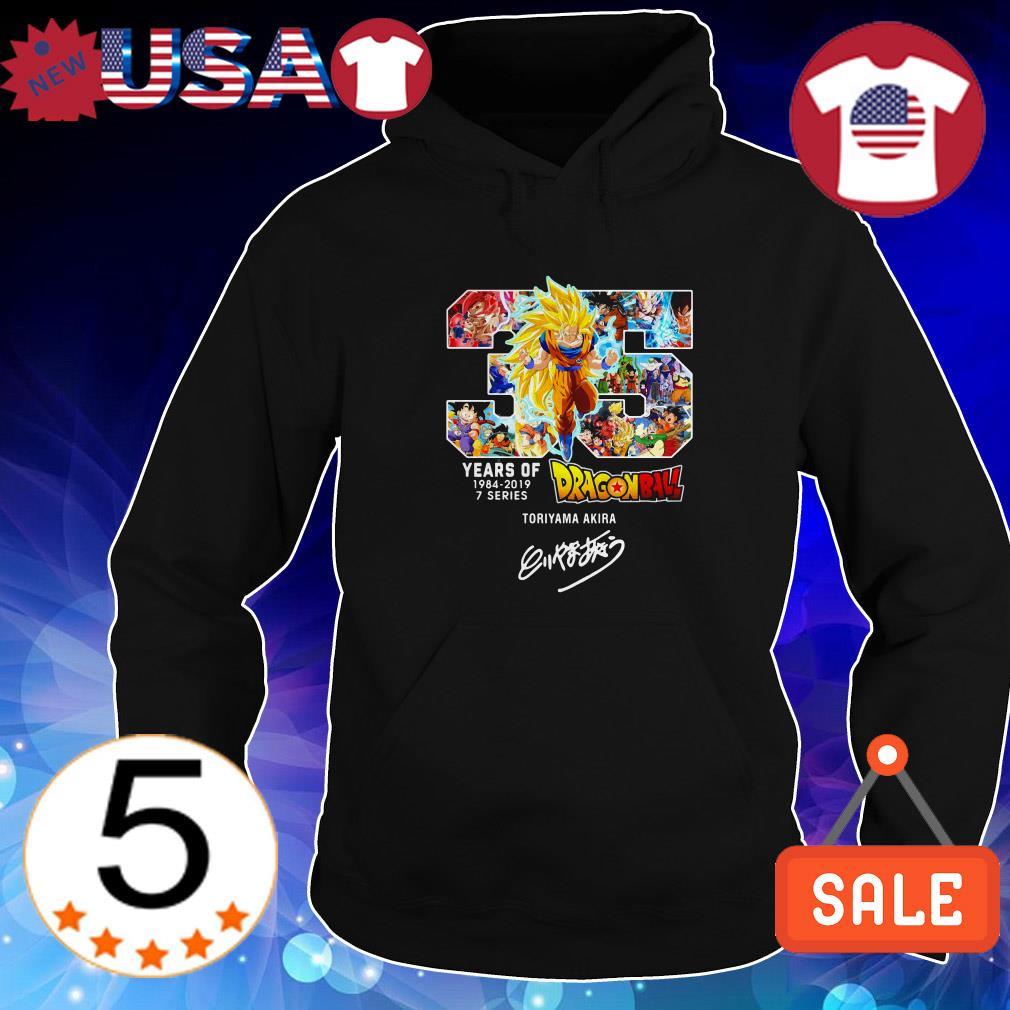 35 Years of Dragon Ball 1984 2019 Toriyama Akira signature shirt