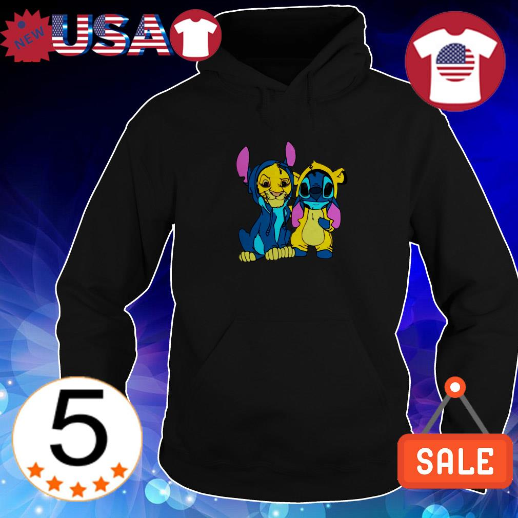 Baby Tiger and baby Stitch shirt