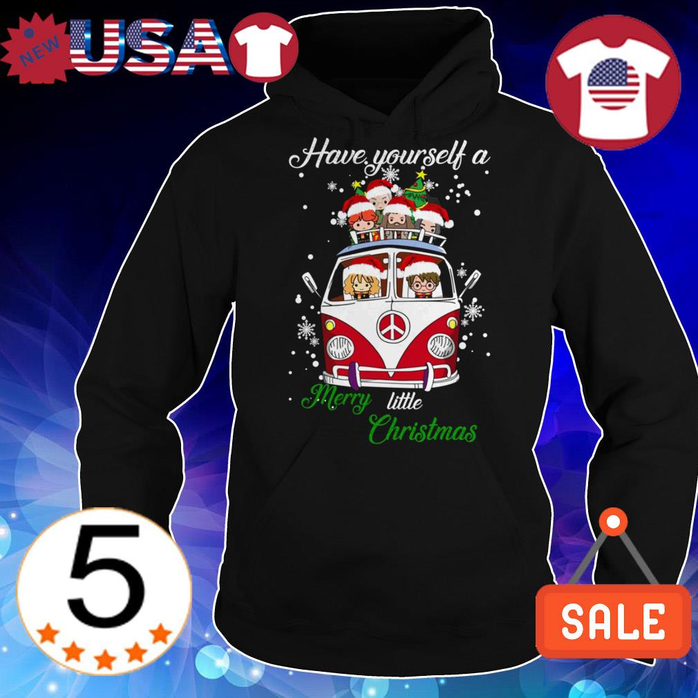 Harry Potter riding hippie car have yourself a Merry little Christmas sweater